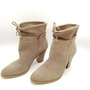 Crown Vintage Suede Pull On Ankle Boots